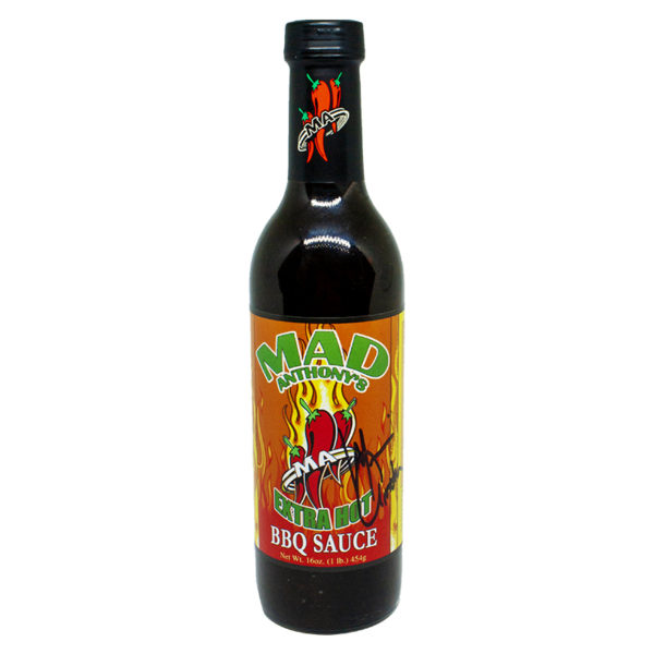 Autographed Mad Anthony's Extra Hot BBQ Sauce