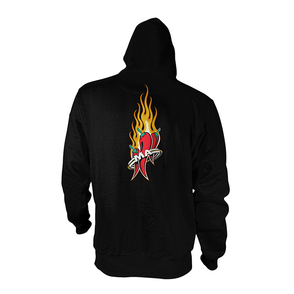 Mad Anthony Black All Ages Hoodie Back