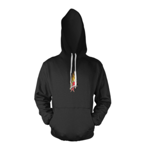 Mad Anthony Black All Ages Hoodie Front