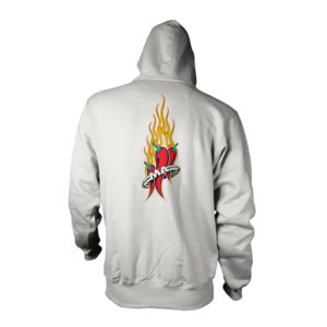 Mad Anthony White All Ages Hoodie Back