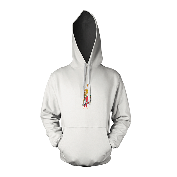 Mad Anthony White All Ages Hoodie Front