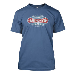 Mad Anthony's Cafe Denim Blue Tee