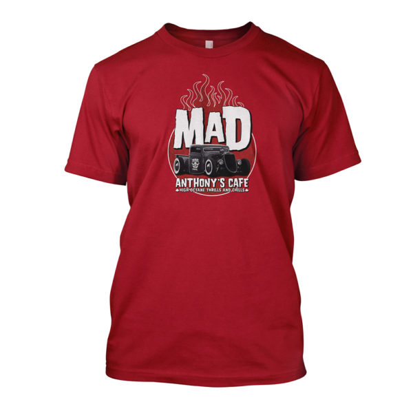 Mad Anthony's Cafe Red Rat Rod Tee