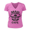 Ladies V-Neck Skull & Peppers Tee