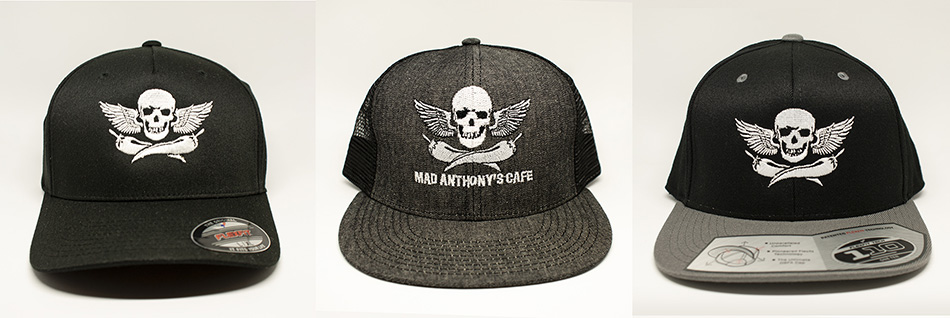 Mad Anthony's Cafe Skull & Pepper Hats