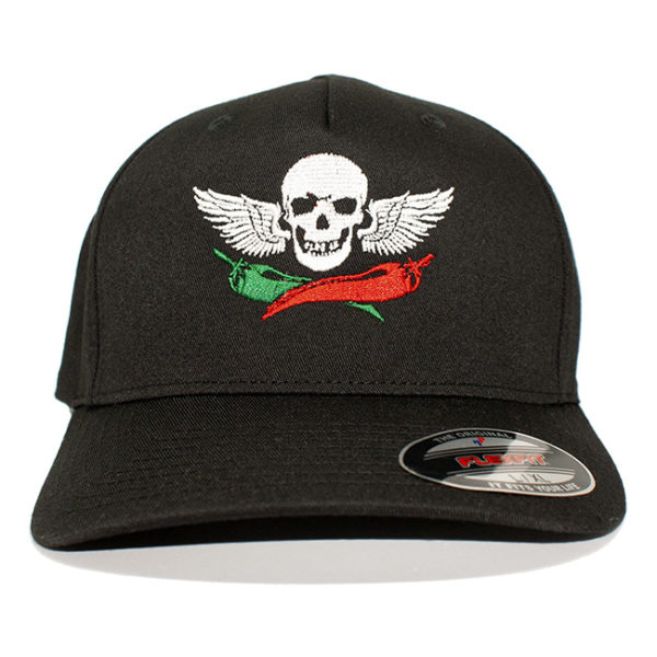 Mad Anthony's Cafe Skull & Colored Pepper Flex Fit Hat