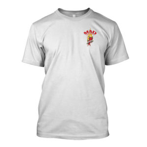 Mad Anthony's Hot Sauce tee - white, front